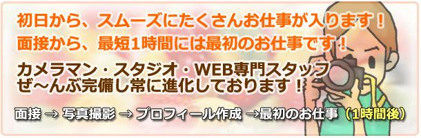 高収入アルバイト 【アロマじらし隊】 面接までの流れ カメラマン・スタジオ完備